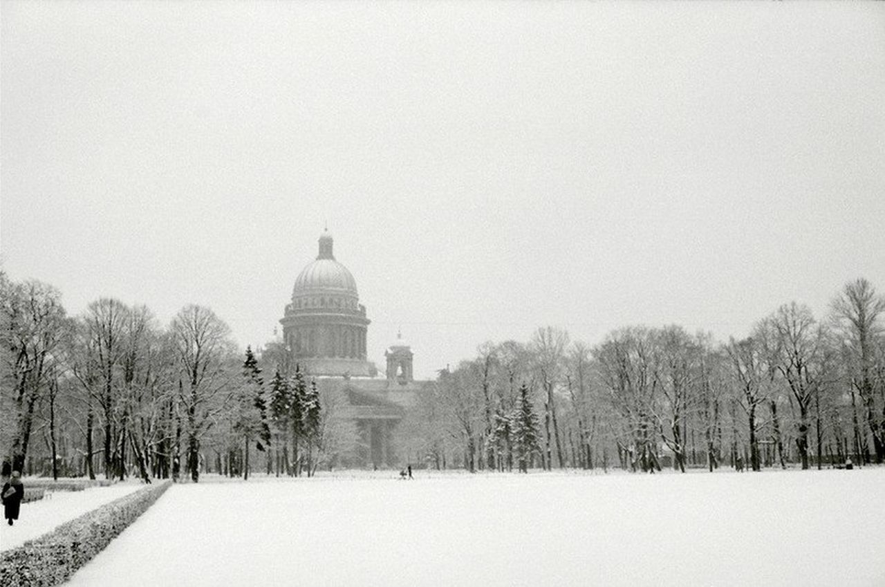 Winter St. Petersburg Isaakievskiy Sobor Isaac's Cathedral Russia Snow Russian Winter