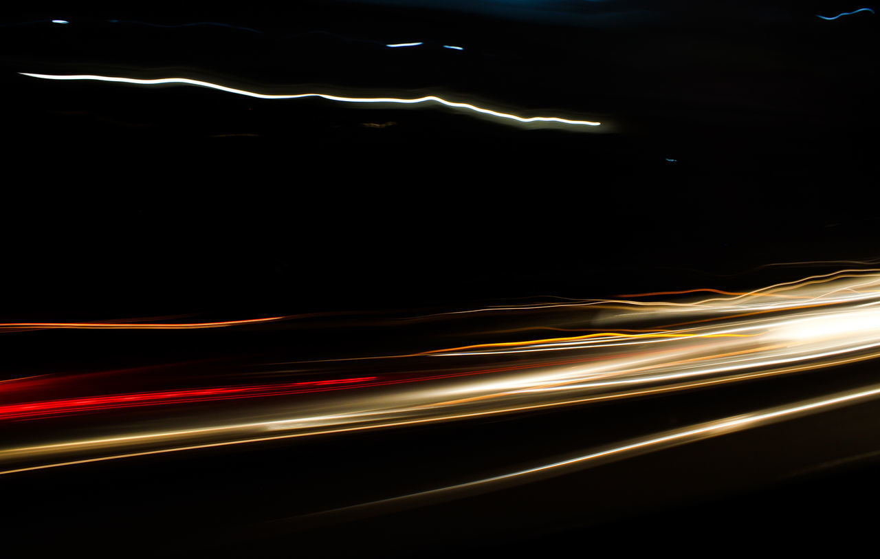 Night Abstract Backgrounds Illuminated Outdoors Light Trail Speed City Light Traces Light Trail Photography Motion