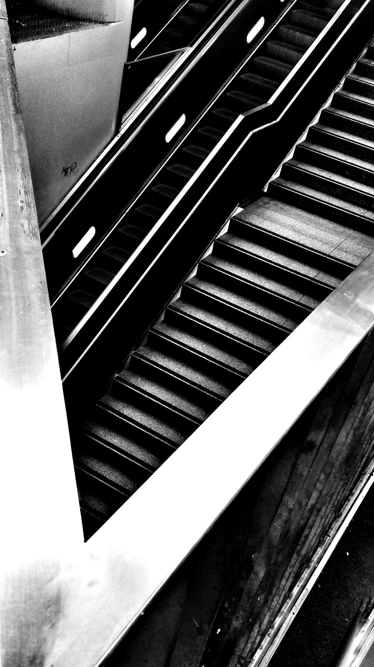 Black And White Staircase Lines And Shapes Perspectives And Dimensions