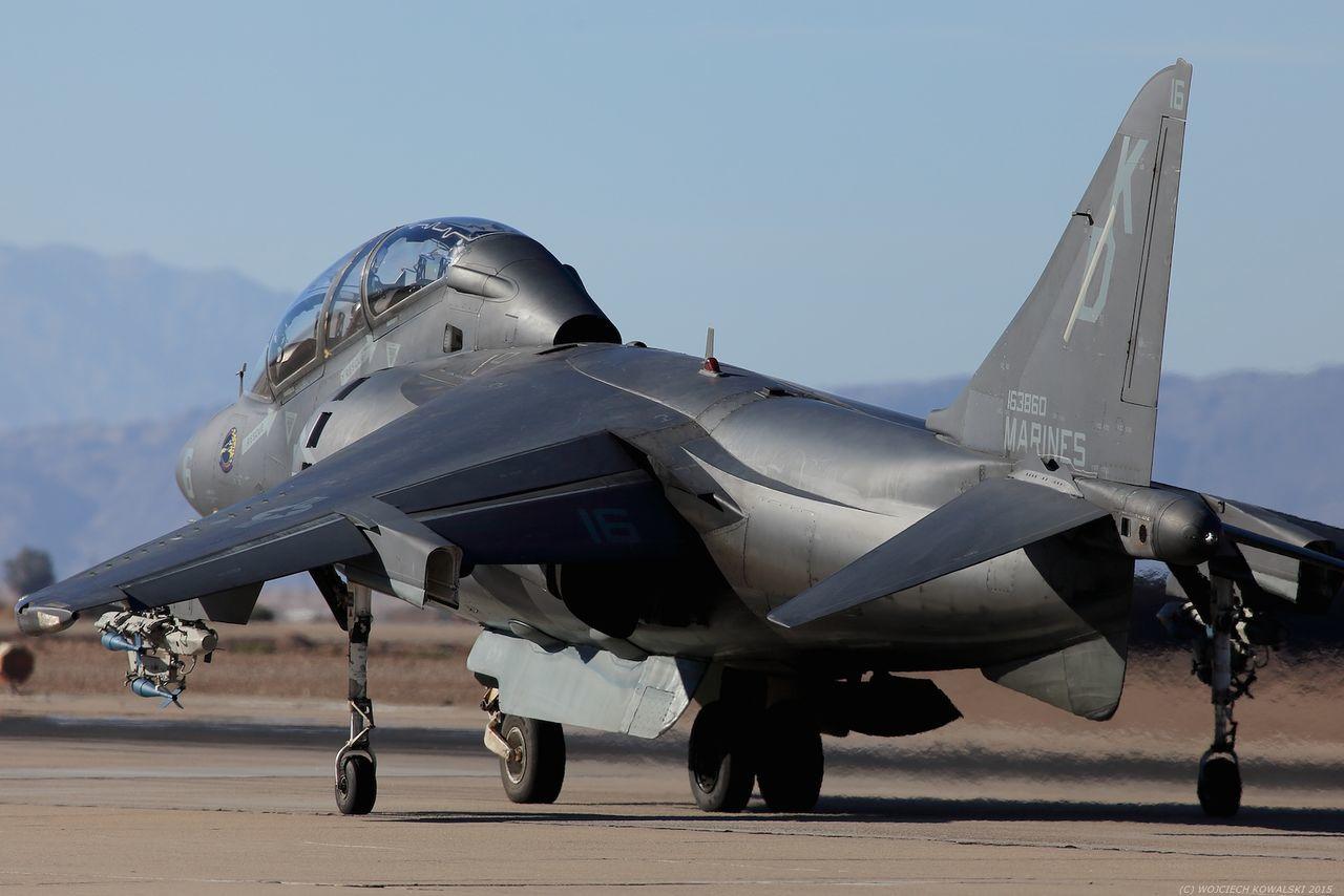 Aerospace Industry Air Base Air Vehicle Airplane Army AV-8 AV-8B Aviation Desert Fighter Fighter Jet Grey Harrier Marine Corps Marines Military No People Runway USMC Vtol Weapon
