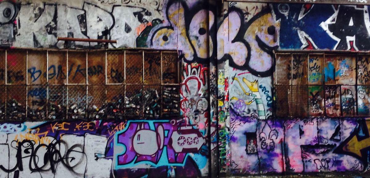 Grilling Graffiti Dilapidated Tags