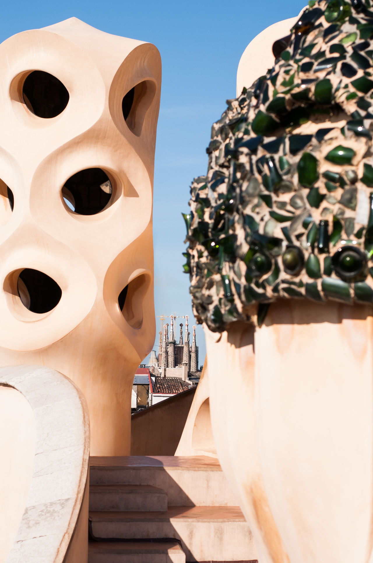 Archilovers Architectural Detail Architecture Building Exterior Built Structure Casa Mila ( La Pedrera ) Close-up Creative Day Eye4photography  EyeEm Gallery Fine Art Photography Gaudi History No People Outdoors Place Of Worship Religion Sky Spirituality Travel Travel Travel Destinations Travel Photography Urbanexploration