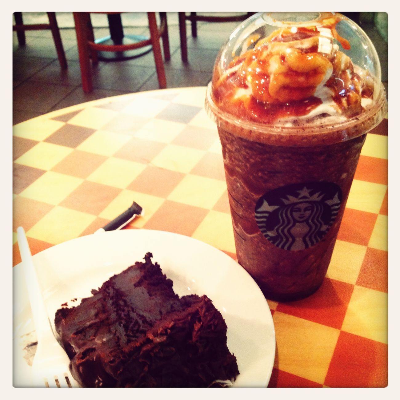 when boredom strikes! Caramel Frap  Coffee Break