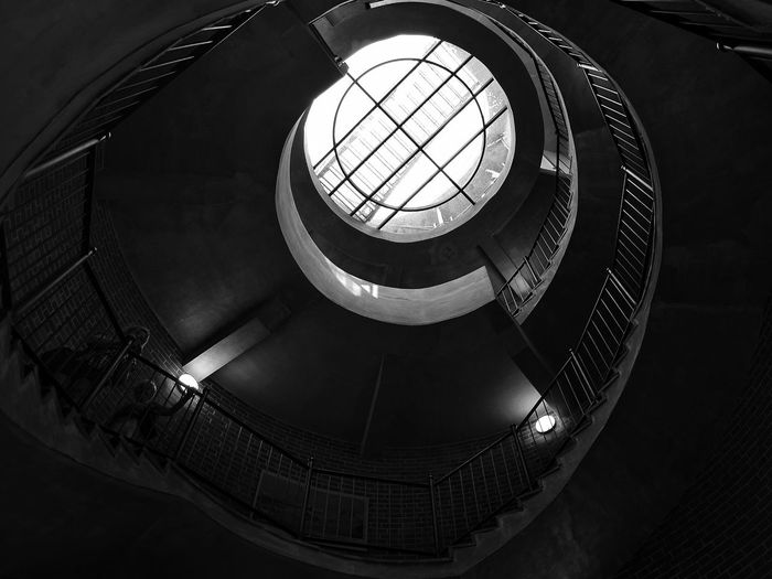 Steps And Staircases Spiral Staircase Spiral Staircase Architecture Low Angle View Indoors  Built Structure No People Day Steps Polska Poland Schody Stairs_collection Stairs_steps Stairs Platform The Architect - 2017 EyeEm Awards