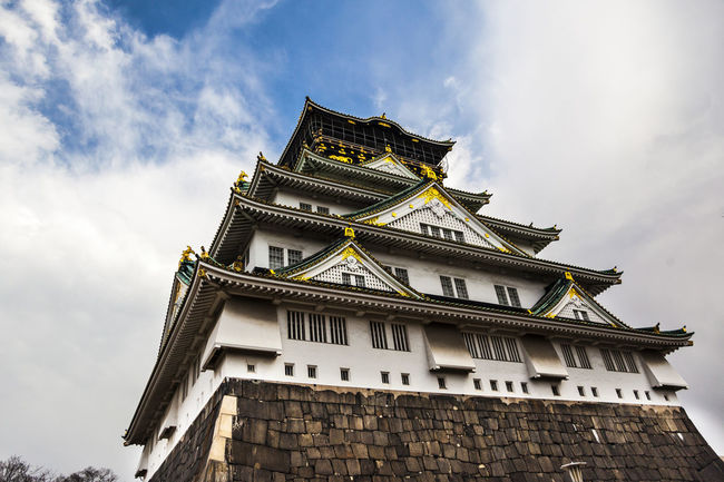 Ultimate Japan Built Structure Castle Tower Cloud - Sky Clouds Cloudy Day History Japan OSAKA Osaka Castle Outdoors Relic Tourism Travel Ultimate Japan Architecture Famous Tourist Attractions Low Angle View Sky