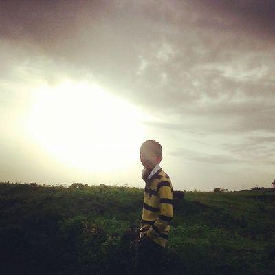Me Sun Sunset Evening Click Enjoy wid Frnds PicOfTheDay