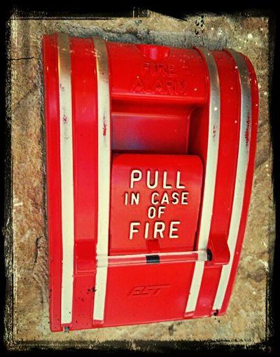 Enjoying Life Fire Alarm Red feel the heat