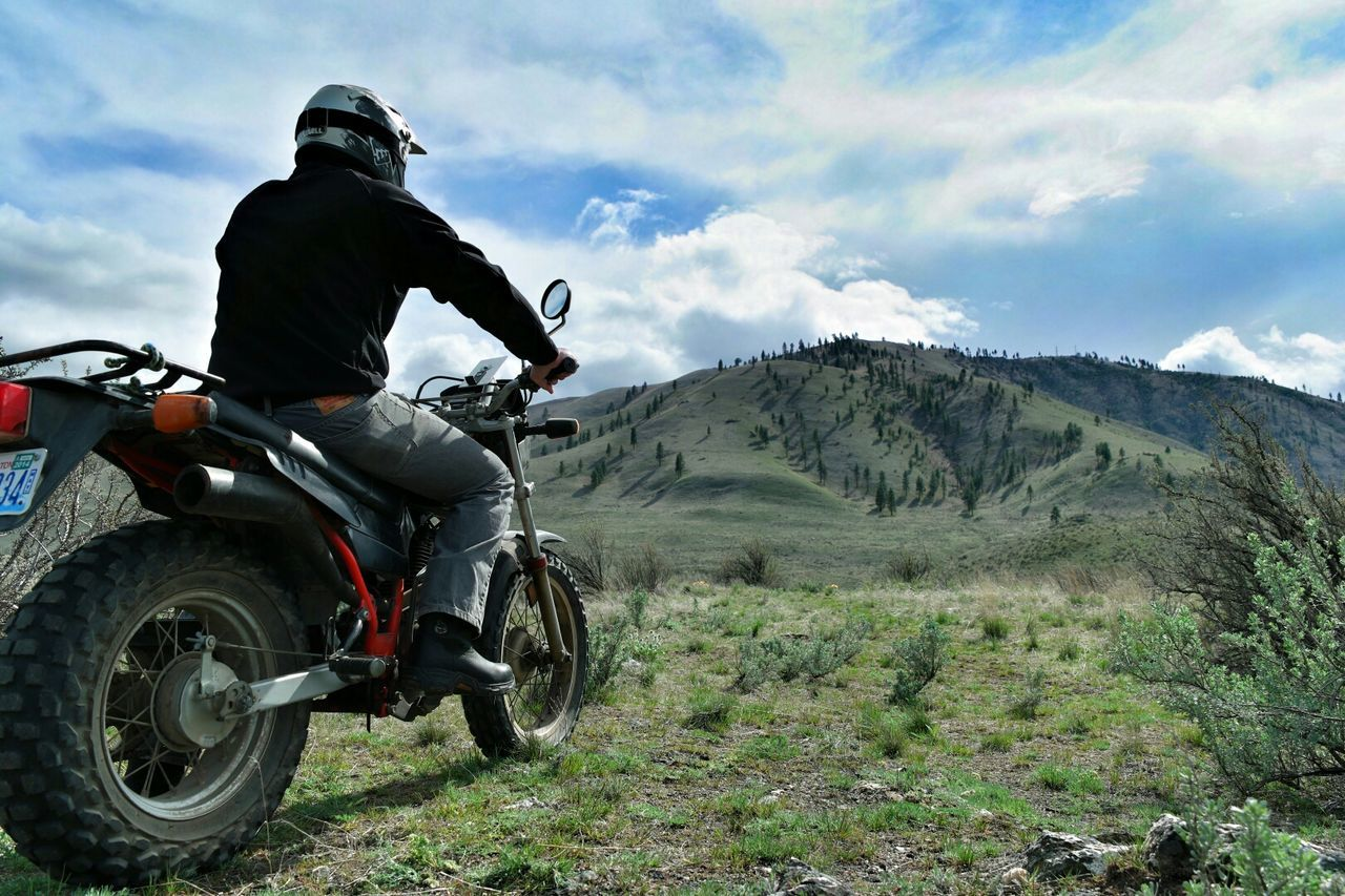 Beautiful stock photos of motorcycle, Beauty In Nature, Chelan, Day, Full Length