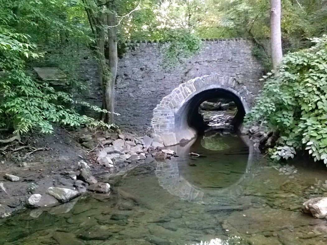 Hidden Shelter - Situated under the Valley Green trails was this tunnel that led to more water and more tunnels. The river mystery tunnel was breathtaking. Not sure where it leads. Yet. On A Hike Nature Nice Views Walking Enjoying The Sights Walking Around