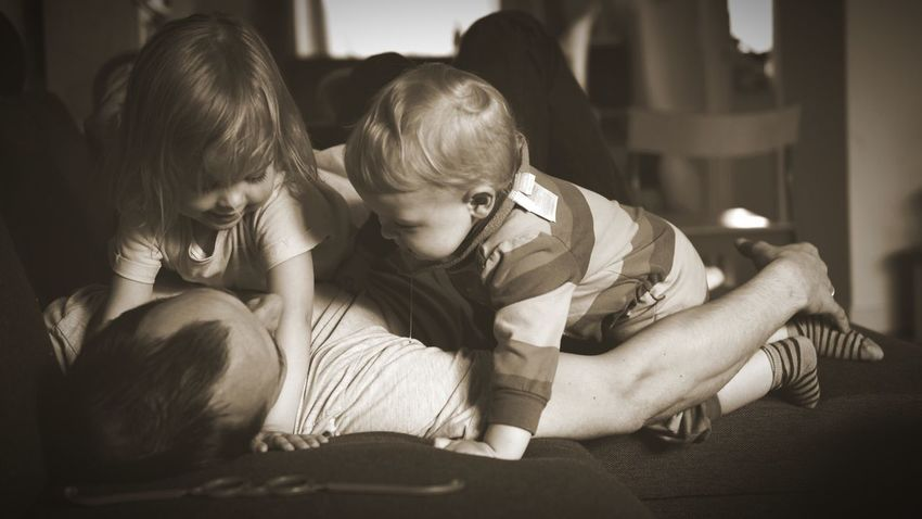 Togetherness Bonding Fatherhood Moments Father And Daughters Happiness Love