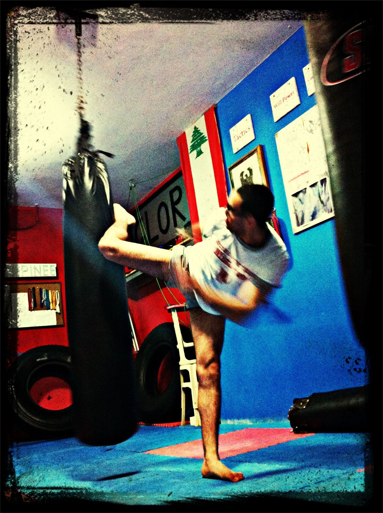 Brother Muay Thai Round Kick Near And Far