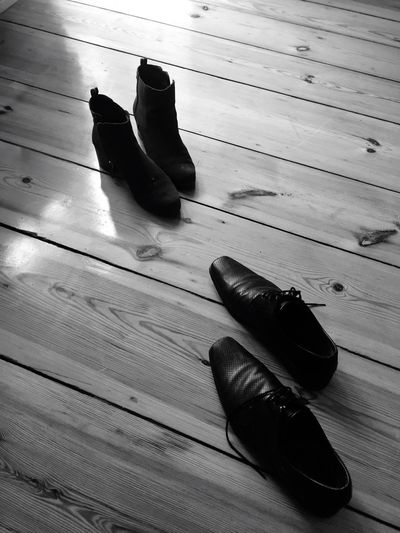 Standing still. Shoes