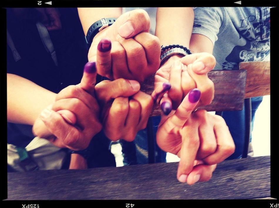 We voted! Vote! INDONESIA Pemilu2014
