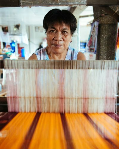 Handloom Weaver in Vigan, Ilocos Sur, Philippines. Vigan Philippines Eyeem Philippines EyeEm Best Shots Portraits Everyday Philippines Travel Photography Handloom Weaving Eye4photography