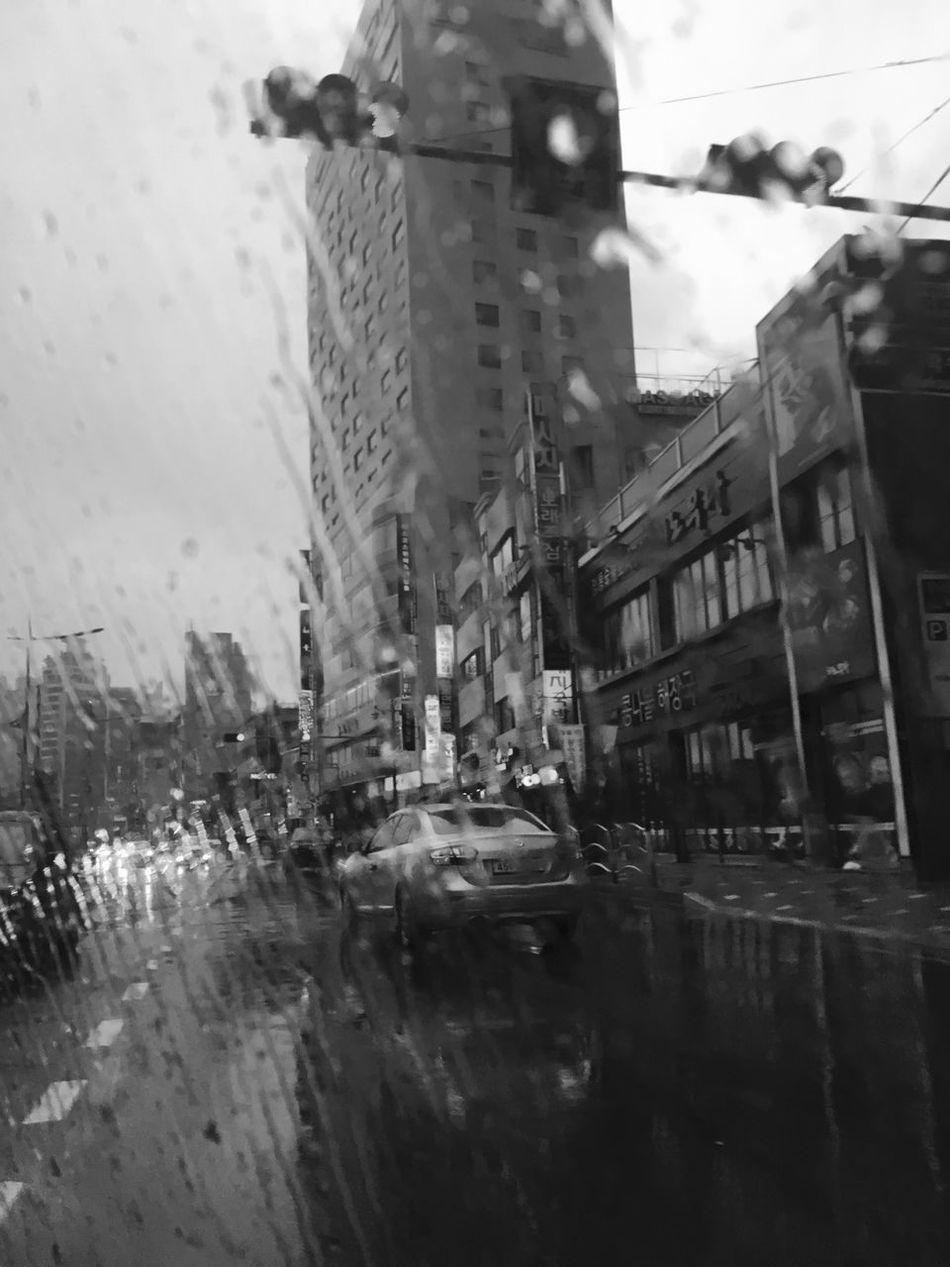 Where to go Rainy Days Busan Gwanganli Blackandwhite Black & White Korea Beach Road
