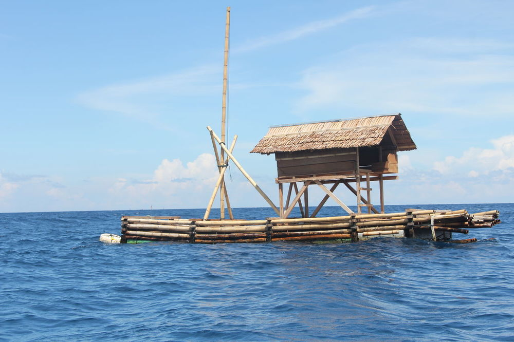 Blue Sea Blue Sky Drift Drifting Floating House Floating On Water House Sea Sky EyeEmNewHere EyeEmNewHere