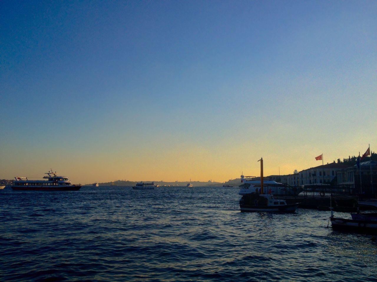 Ortaköy Istanbul Sunset Taking Photos Hello World Turkey Sea Boats