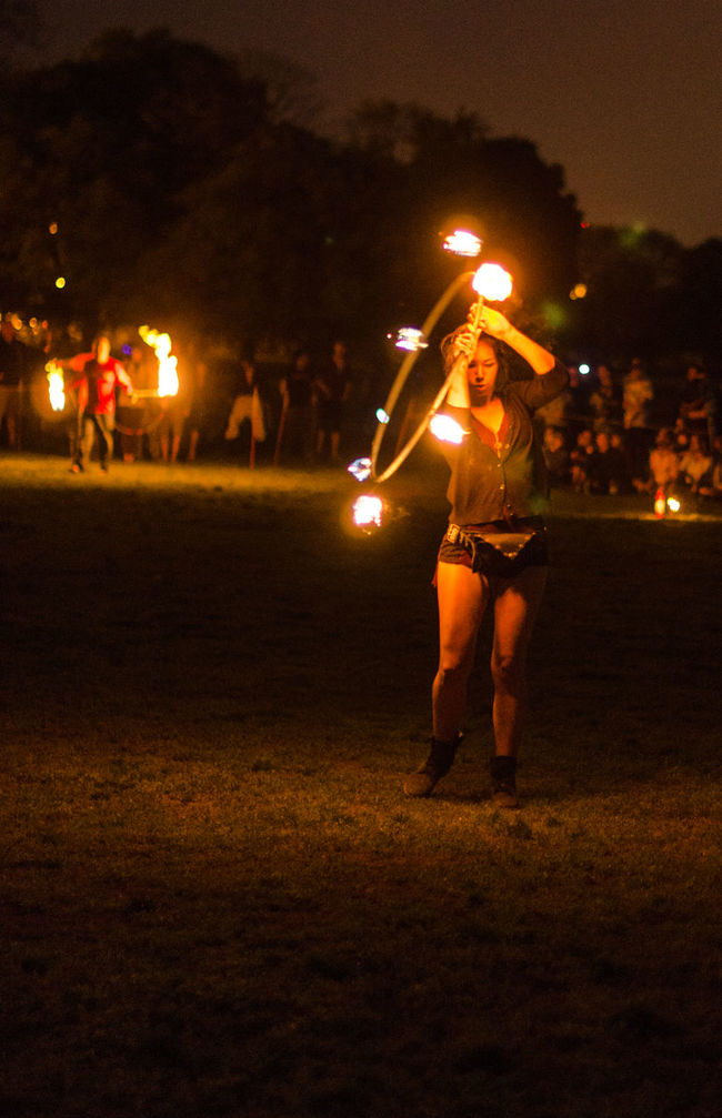 Playing with fire Chicago Culture Hipies Fire Full Moon Moonfire Moon