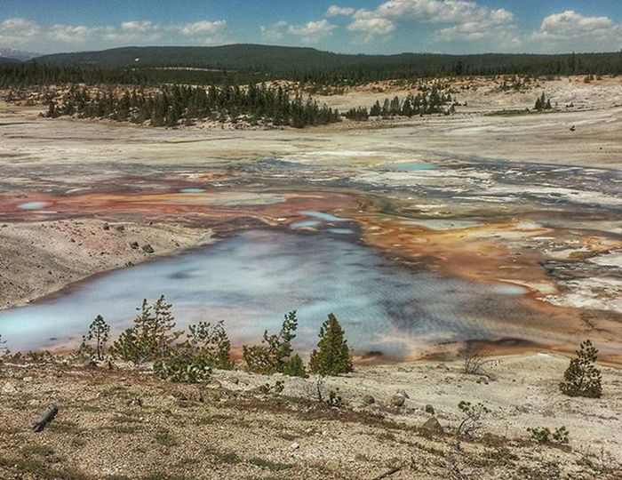 Nature always wears the colors of the spirit. - Ralph Waldo Emerson Listening to 'Emeraldine' - Corrine Railey Bae MyPhotography Sarazjourneys Yellowstone Park