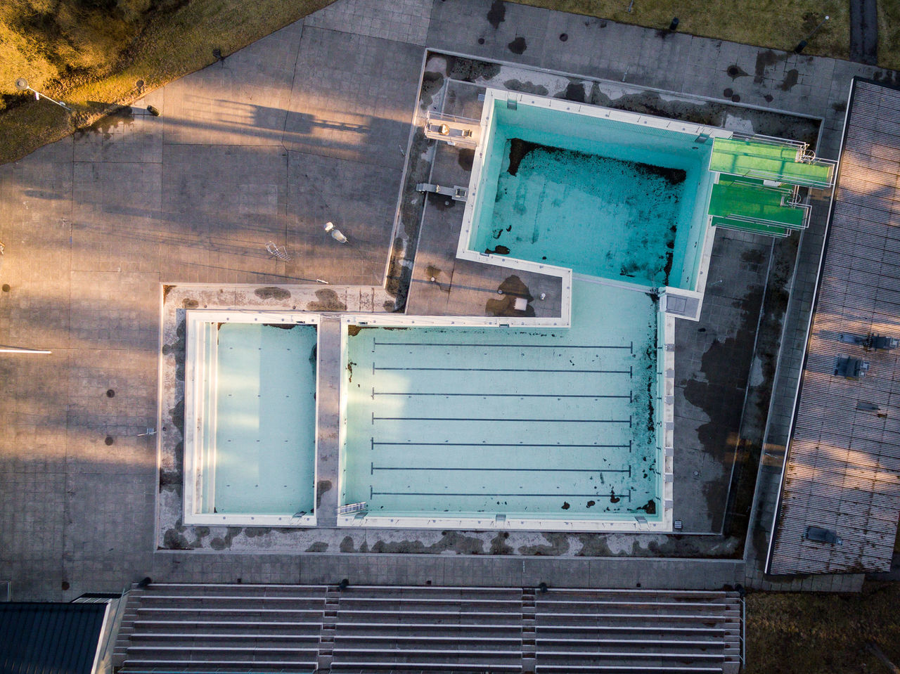 Abandoned Architecture Building Exterior Built Structure Day Drone  Finland From Above  Helsinki High Angle View No People Outdoors Swimming Pool Top Perspective