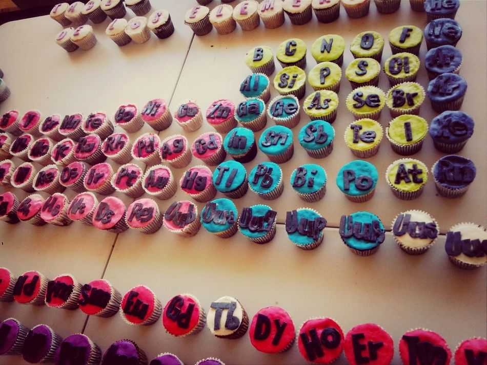 Cupcakes Elements Chemistry✌ Happy Day:)