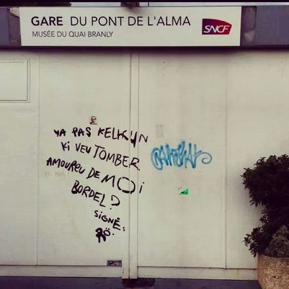 Anyone ? RainyDay Tag Paris Streetart withfriends