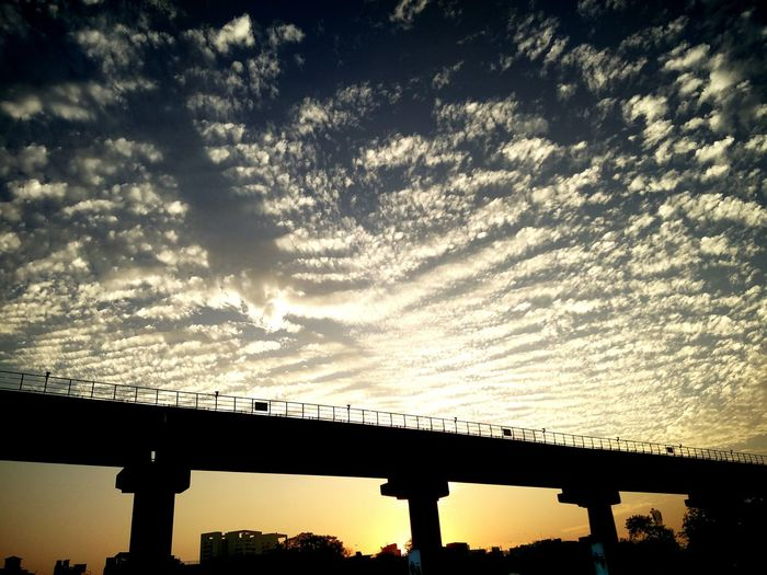 Gurgaon Rapid Metro Cyber City Clouds Evening Sunset Sky Lovely View Landscapes With WhiteWall The Great Outdoors - 2016 EyeEm Awards The Architect - 2017 EyeEm Awards