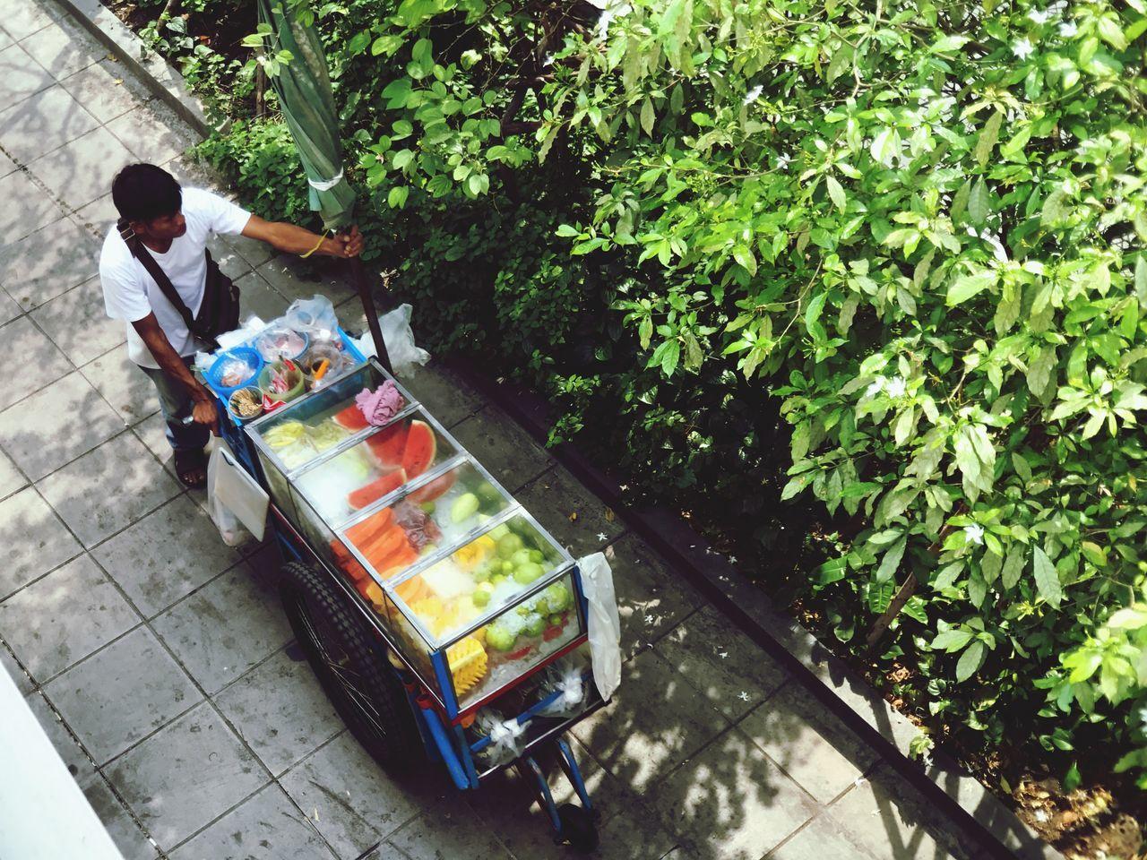 Adapted To The City Fruit Cart Urban Life Work City City Life Bangkok Thailand