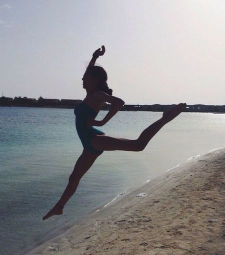My Year My View Sea Full Length Beach Water One Person (null) Sand Mid-air Jumping Leisure Activity Outdoors Coastline Clear Sky Real People Sky Happiness Nature Day Vacations Beauty In Nature First Eyeem Photo