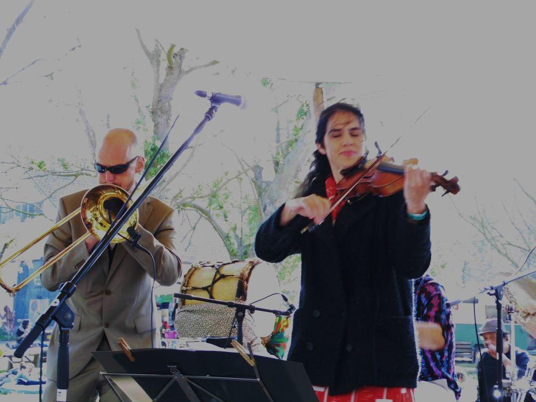 Violinist Trombonist Making Music PeopleMusician