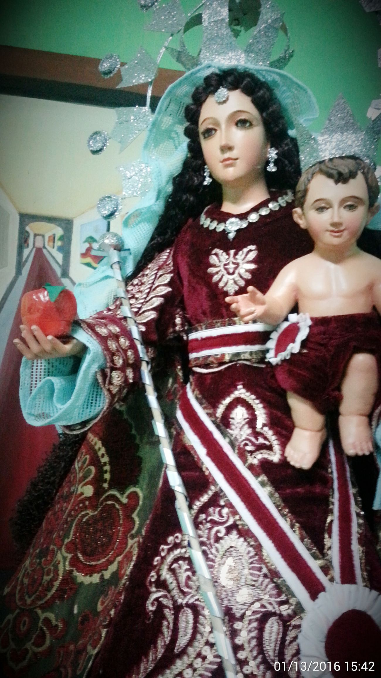 Viva la Virgen! Taking Photos Check This Out Virgin Mary Ourladyofaranzazu PRAYFORUS Eyeem Philippines