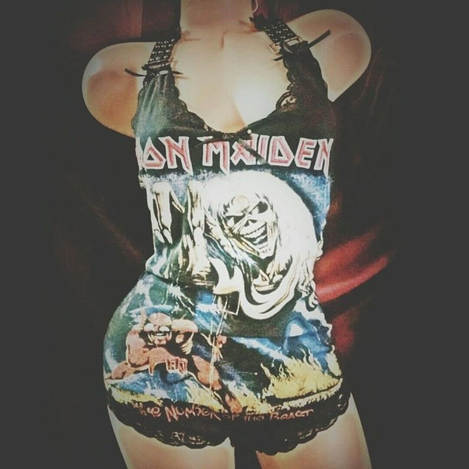 New Bodysuit I just can't get enough of these. My girl and at PrettyPreverse has really impressed me this time! Hottiewithabodysuit Ironmaiden Uptheirons numberofthebeast onesie playsuit TeamFuckPants