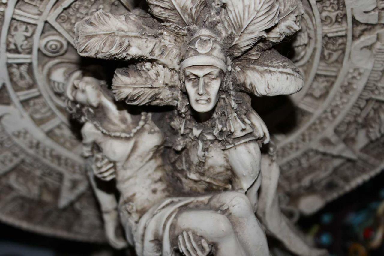 Statue Sculpture Aztec Azteca Art Arte