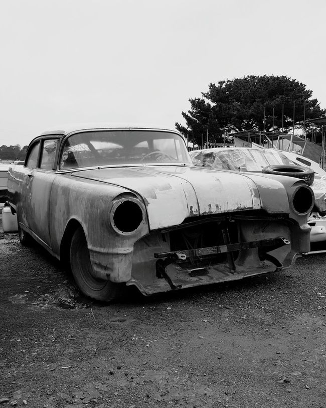 Car Shell Vintage Cars Black And White Rusty Autos Renovation Project