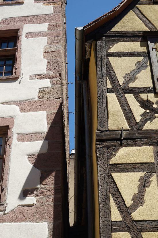 Elsass Architecture Built Structure Building Exterior Sunlight Day No People Outdoors Shadow Riquewihr Alsace France Elsass Frankreich 🇫🇷 Scenics