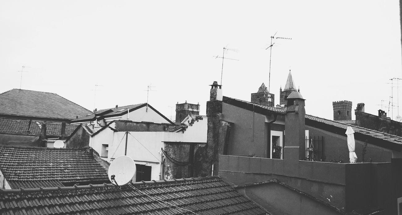 Roof Houses Historical Building MedievalTown Albenga Liguria Hanging Out City Center Blackandwhite Rainy Day