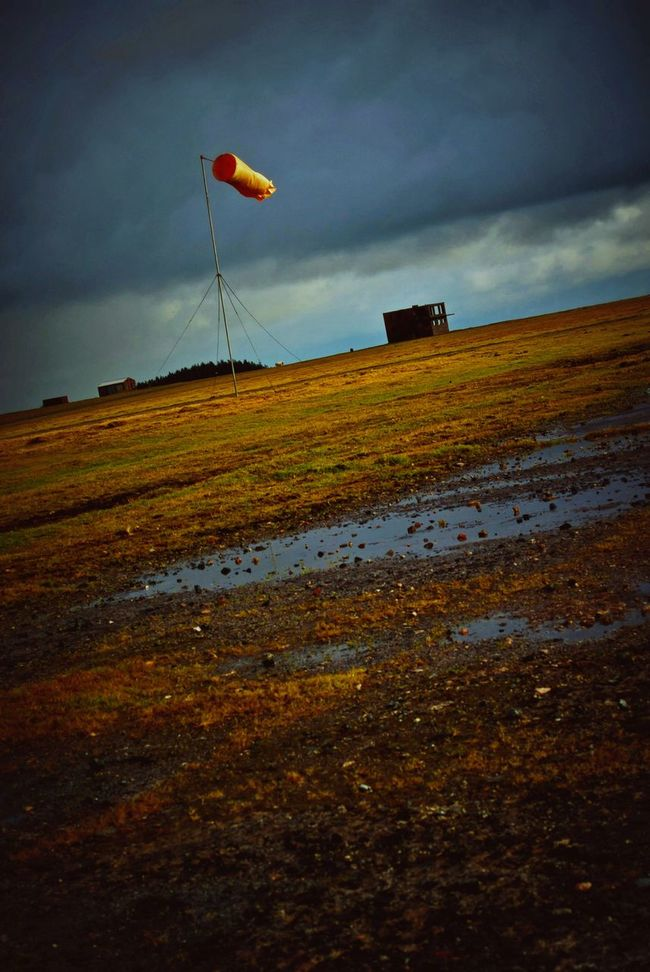 DISUSED Airfield Davidstow Cornwall Stormysky Puddles Rainy Days