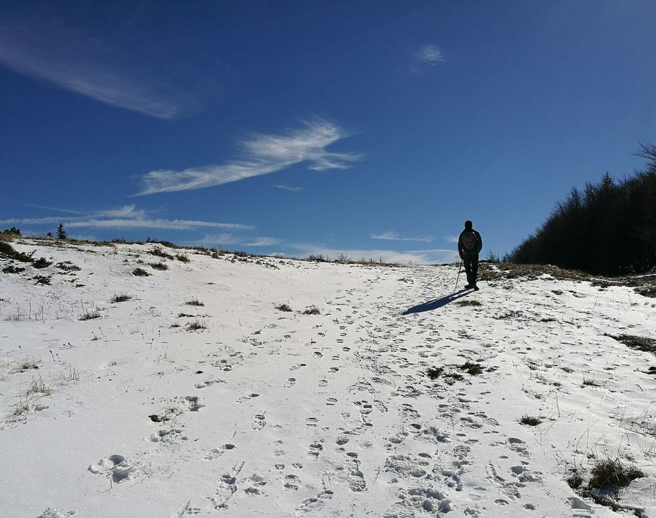 Trekking Mountain Snow Walk Walking Blue Blue Sky Impronte High Cold Cold Winter ❄⛄ Cold Day Sun Silence Nature