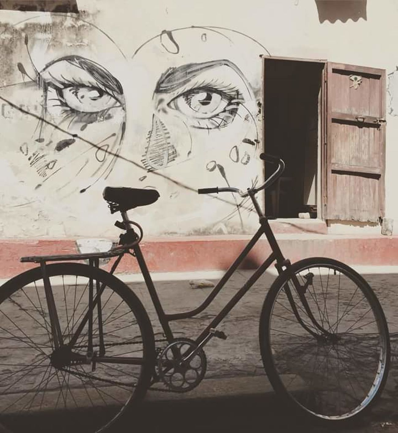 Cuba Bicycle Transportation Mode Of Transport No People Drawing - Art Product Outdoors Night