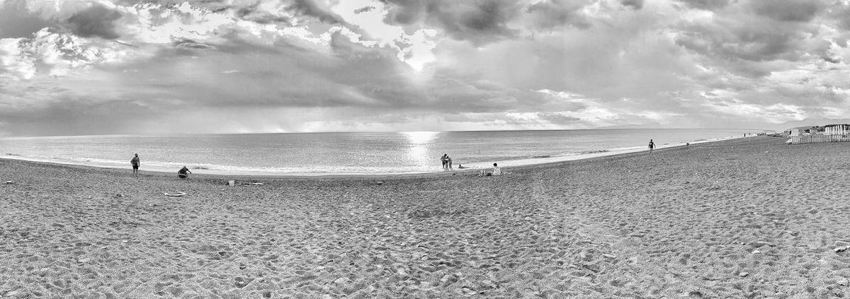 Outside now Seaside Beaches Of The World Beach Photography Beach View Beachlife Myhumanstory Shore Shorelines Panoramic Photography Panoramic Photo Blackandbeach Blackbeach Calabrian Coastline