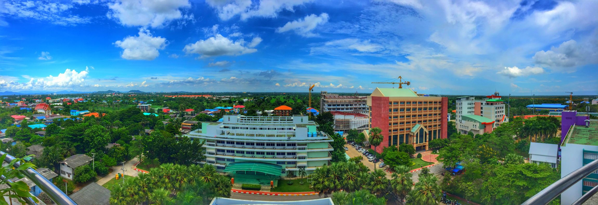 Sky Cloud - Sky Building Exterior Blue Tree Cityscape High Angle View City Day Office Building University City Life First Eyeem Photo
