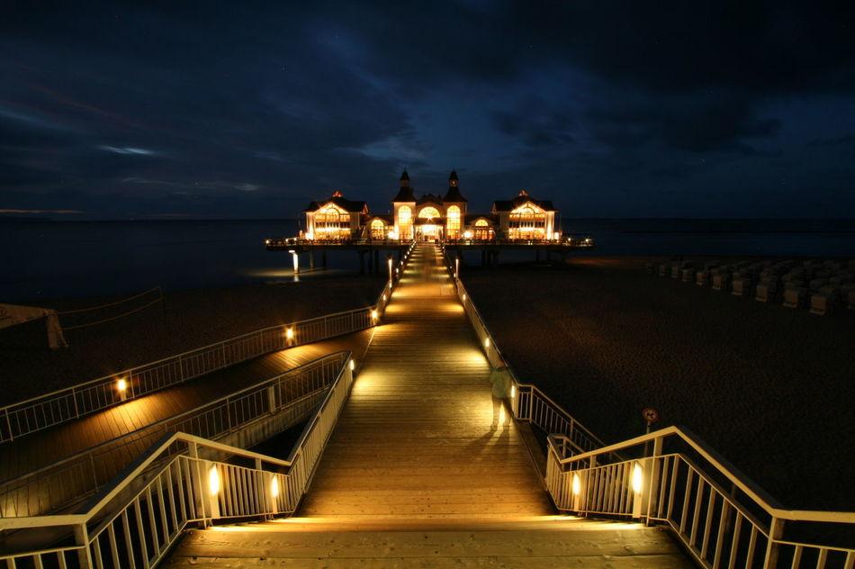 Selliner Seebrücke @night Architecture Bridge Night Rügen Scenics Sea Seebrücke Sellin Travel Destinations Water