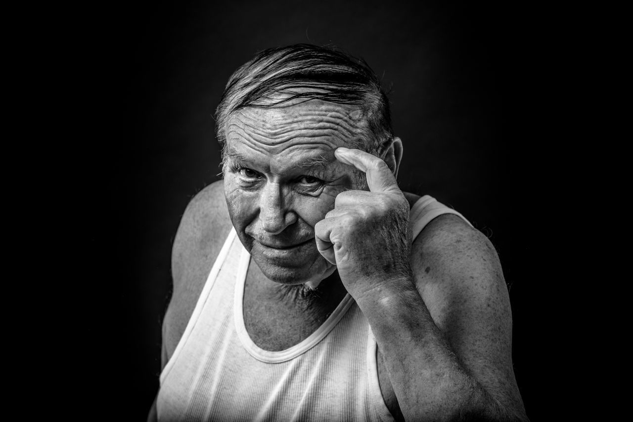 Adult Adults Only Black And White Black Background Black Background Blackandwhite Close-up Fine Art Portrait Human Hand Looking At Camera Looking At Camera Men One Man Only One Person One Senior Man Only Only Men People Portrait Portrait Photography Senior Adult Senior Men Studio Photography Studio Shot The Portraitist - 2017 EyeEm Awards