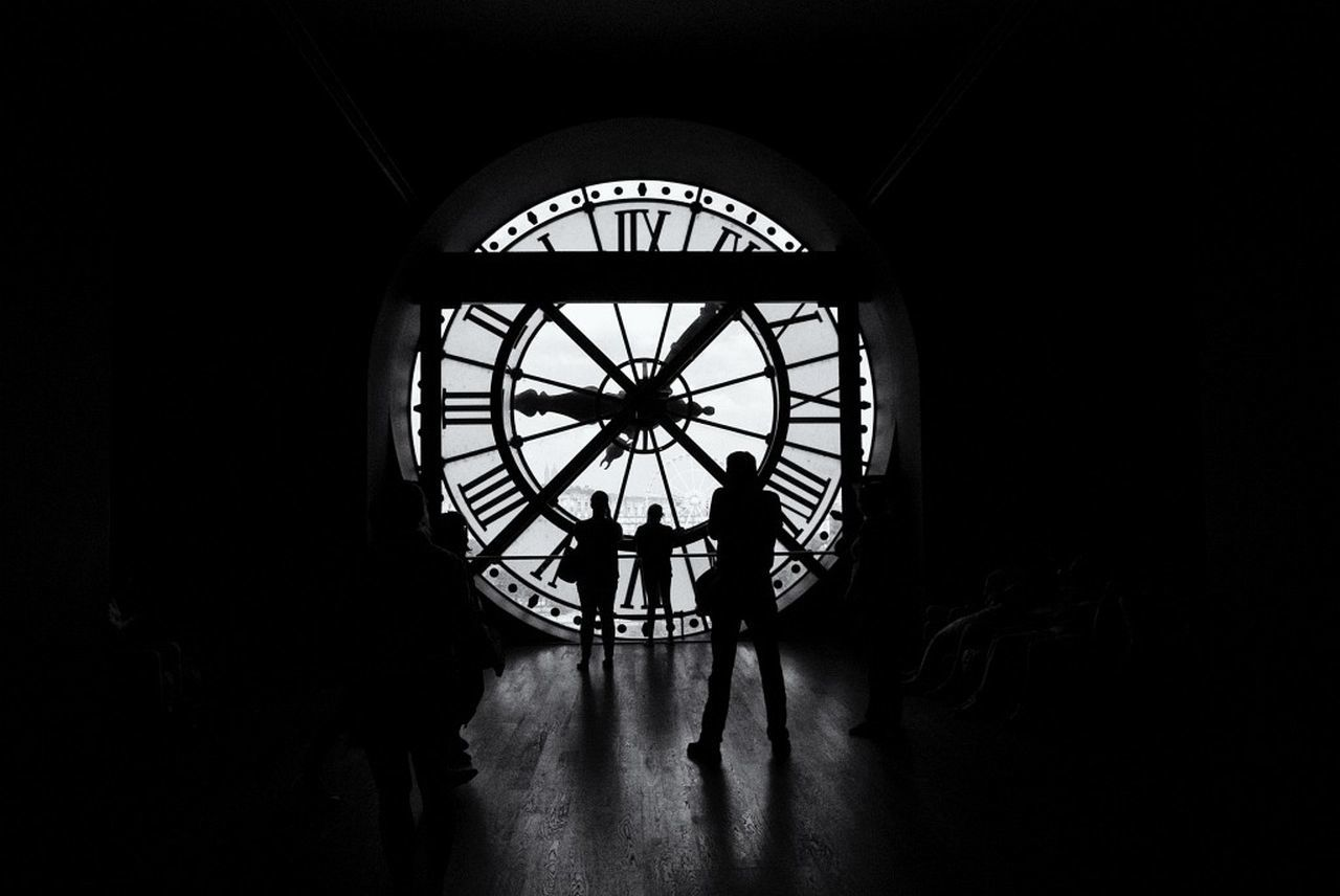 Blackandwhite Bw_collection Clock Paris