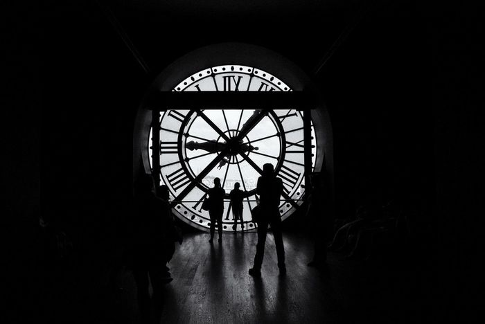 Blackandwhite Bw_collection Clock Paris