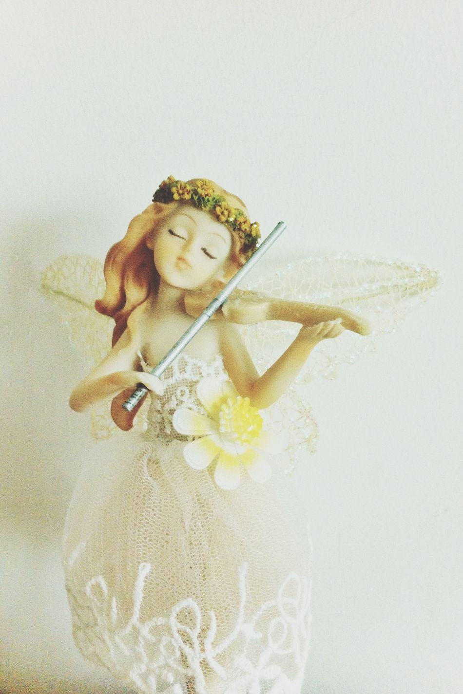 我和妹妹的姐妹公仔: fairy on violin Enjoying Life Fairy Toy