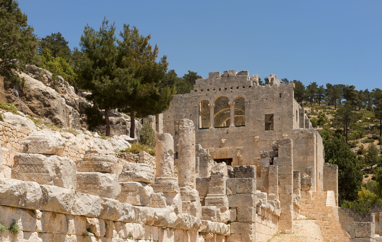 Alahan Monastery Alahan Monastery Ancient Ancient Civilization Archaeology Architecture Building Exterior Built Structure Columns And Pillars History Monastry Mut Old Ruin Pillars Religious  Religious Architecture Sky Tourism Travel Destinations Tree Turkey
