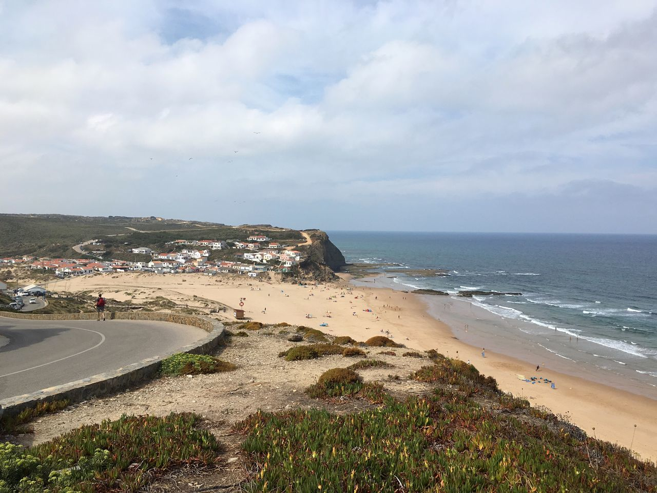 Check This Out Portugal Atlantic Ocean Seaside Algarve Aljezur Enjoying Life Sea Beach Blue Sky View Relaxing Hanging Out Built Structure Architecture Perspective Blue Down Enjoy The New Normal Day My Year My View