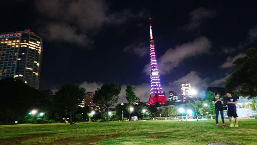 芝公園 Shibapark Night Midnight Tokyo 東京タワー 増上寺 Zojojitemple Tokyo Tower Tower Japan