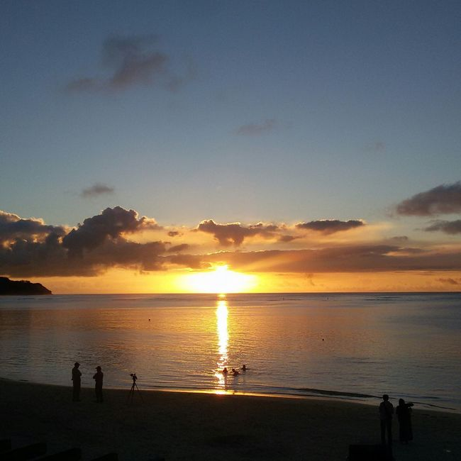 Exploring New Ground when i was picking up my dad from work, I looked over the horizon and saw this. Guam Guamsunset GUAM..a Place I Call Home